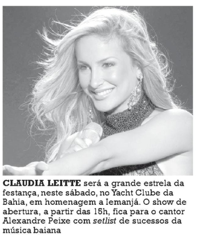 CLAUDIA LEITTE NO YACHT